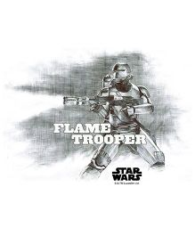 Orka Flame Trooper Digital Printed Wall Decal - Grey