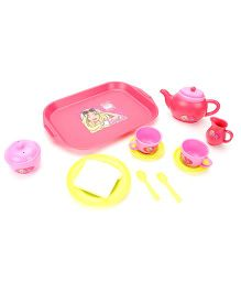 Barbie Tea set - Pink And Yellow
