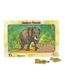 United Toys Elephant Puzzle Multicolor - 15 Pieces