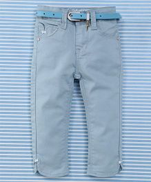 Bambini Kids Pant With Belt - Blue