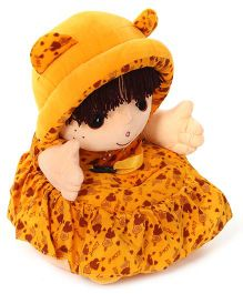 Lovely Doll Shaped Sofa With Multi Print - Yellow