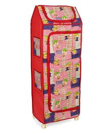 Kids Zone Almirah Bear And Dog Print - Red