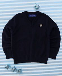 Bambini Kids Full Sleeves Pullover - Dark Blue