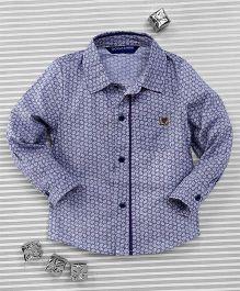 Bambini Kids Elegant Full Sleeves Shirt - Greyish Blue