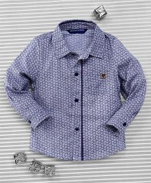 Bambini Kids Elegant Full Sleeves Shirt - Greyish Blue