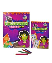 Chitra Halloween Coloring And Activity Book - English