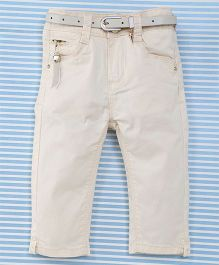 Bambini Kids Pant With Belt - Off White