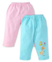 Tango Full Length Pajamas - Pink Aqua