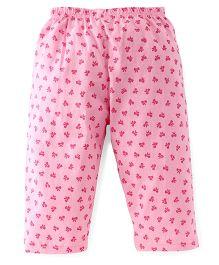 Tango Full Length Bow Printed Leggings - Pink