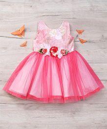 Eiora Beautiful Partywear Dress - Pink