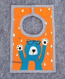 Pre Order - Superfie Cartoon Print Premium Bib - Orange