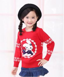 Tickles 4 U Bunny Sweatshirt - Red