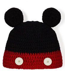 Mayra Knits Cute Cap - Black & Red