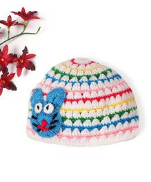 Mayra Knits Rabbit Applique Cap - Multicolor