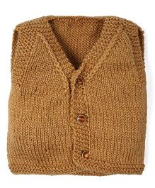 Mayra Knits Trendy Vest - Brown