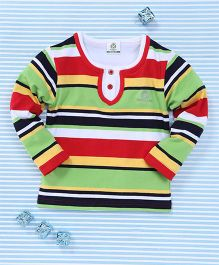 Water Melon Striped T-Shirt - Red & Green