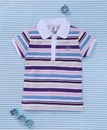 Water Melon Striped T-Shirt - Purple