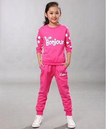 Funky Baby Bonjour Casual Set - Pink