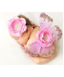 Funky Baby Baby Photo Props Butterfly Wings & Headband Set - Lavender & Baby Pink