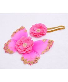 Funky Baby Baby Photo Props Butterfly Wings & Headband Set - Pink