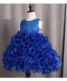 Funky Baby Ruffles Cupcake Dress - Royal Blue