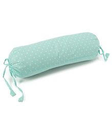 The Baby Atelier Heart Junior Bolster Cover Set With Fillers - Pastel Green & White
