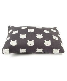 The Baby Atelier Teddies Baby Pillow Cover - White