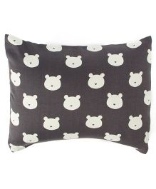The Baby Atelier Teddies Baby Pillow Cover with Filler - White
