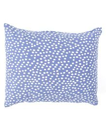 The Baby Atelier Spots Baby Pillow Cover Without Filler - Purple & White