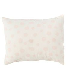 The Baby Atelier Dots Baby Pillow Cover Without Filler - White & Pink