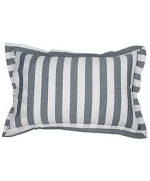 The Baby Atelier Stripe Baby Pillow Cover - Grey & White