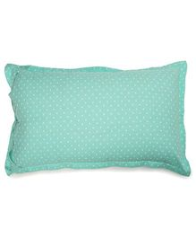 The Baby Atelier Heart Print Junior Pillow Cover - Green