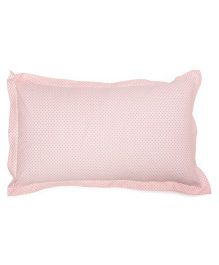 The Baby Atelier Flower Print Junior Pillow Cover - Pink
