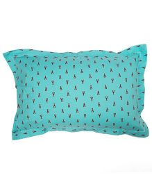 The Baby Atelier Crab Print Junior Pillow Cover - Blue