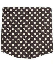The Baby Atelier Teddy Print Fitted Crib Sheet - Black