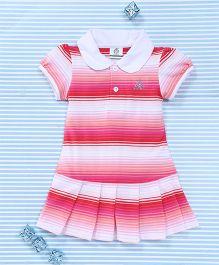 Water Melon Stripe Dress - Pink