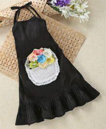 Shu Sam & Smith Flower Basket Dress - Black
