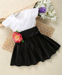 Shu Sam & Smith Peony Girl Dress - Black & White