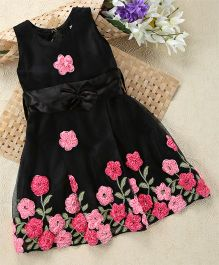 Shu Sam & Smith Floral Fantasy Dress - Black & Pink