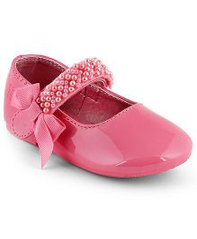 Kittens Shoes Ballerinas With Embellished Velcro Strap - Light Pink