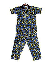 Cuddle Up Animal Print Night Suit - Blue