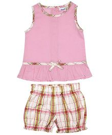 ShopperTree Sleeveless Top With Shorts Set - Pink
