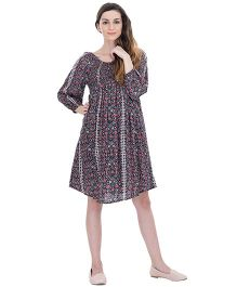 Oxolloxo Maternity Smocked A-Line Dress - Multicolor