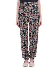 Oxolloxo Maternity Elastic Pants Floral - Multicolor