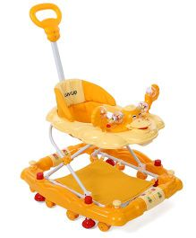 LuvLap Comfy Baby Walker Cum Rocker Yellow - 18230