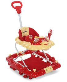 LuvLap Comfy Baby Walker with Rocker Red - 18233