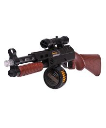 Happykids Semi Automatic Gun With Real Sound Effect - Brown