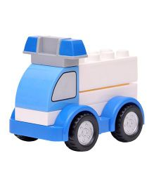 Happykids Pull & Push Construction Toy - Blue White