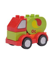 Happykids Pull & Push Construction Truck - Red Green