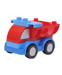 Happykids Pull & Push Construction Truck - Blue Red